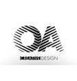 oa o a lines letter design with creative elegant vector image vector image