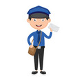 of postman vector image