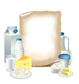 paper milky vector image vector image