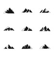 plateau icons set simple style vector image