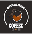 premium coffee circle frame coffee pot background vector image vector image