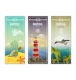 Retro Sea Nautical Vertical Banners vector image