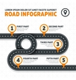 Road map street highway modern business vector image vector image