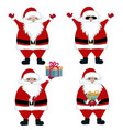 santa collection vector image