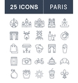 Set Flat Line Icons Paris vector image vector image