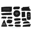 Set of charcoal texture charcoal design vector image