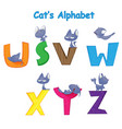 set of english alphabet vector image vector image