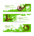 Set of St Patricks Day banners with hand drawn vector image vector image