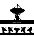 silhouette satellite dish vector image vector image