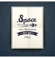 Space retro poster vector image vector image