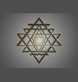 sri yantra gold sacred geometry hindu symbol logo vector image vector image