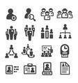 staff icon vector image vector image