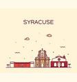 syracuse skyline sicily italy linear style vector image vector image