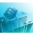 Tech business design composition vector image vector image