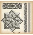 vintage baroque border vector image vector image
