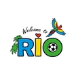 Welcome to Rio vector image vector image
