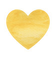 yellow heart on white background vector image