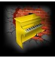 yellow piano vector image vector image