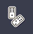 paper sticker on stylish background poker dice vector image