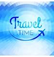 Summer travel Design Blurred pixelate sea beach vector image