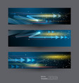abstract banners set 3-8-17 vector image vector image