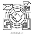 Agreement line icons vector image vector image