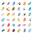 audio icons set isometric style vector image vector image