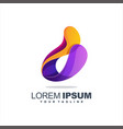 awesome gradient abstract logo design vector image vector image
