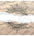 background of crumpled torn paper with vector image vector image