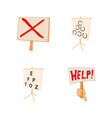 banner icon set cartoon style vector image