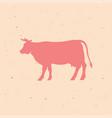 beef vintage logo retro print poster vector image vector image