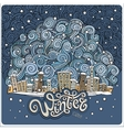 cartoon winter fairytale town vector image
