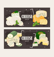 cheese shop banner various vector image vector image