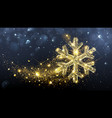 Christmas magic snowflake vector image vector image