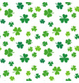 clover seamless pattern st patricks day vector image vector image