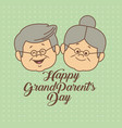 color dotted background card with faceselderly man vector image