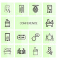 conference icons vector image vector image