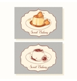 Creme caramel dessert business cards in vector image vector image