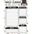 daily planner template with a4 format vector image