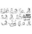 dentist doctors storyboard medical team concept vector image vector image
