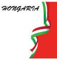 design element for hongaria national flag vector image