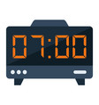 digital clock flat icon electronic and alarm vector image
