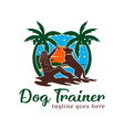 dog training logo design template vector image vector image