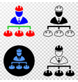 engineer hierarchy eps icon with contour vector image vector image