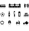 English culture icons vector image