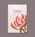 exotic flowers bird paradise botany print vector image