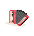 flat icon of red accordion portable vector image