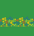 floral seamless repeat border spring green vector image vector image