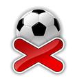 football fail vector image vector image