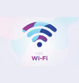 free wifi symbol with dynamic textured background vector image vector image